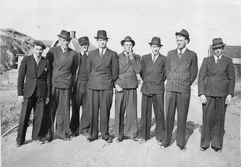 A group of hand some men in their best suit