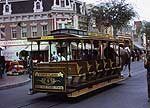 Disneyland trolley on main street