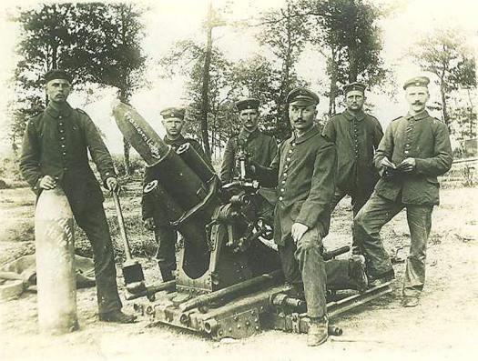Weltkrieg Minenwerfer