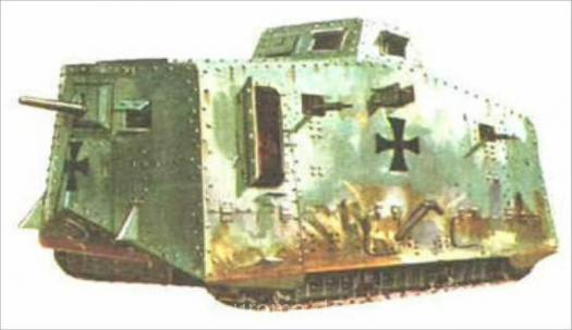 alter Panzer in gruen