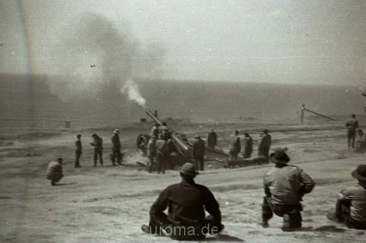 Military Exercises on beach