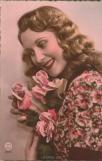 Lächelnde Frau - Ansichtskarte um 1916